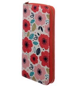 Poppy Fields Zip Around Large Wallet Purse
