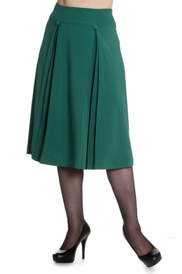 Kennedy pleated detail skirt Green