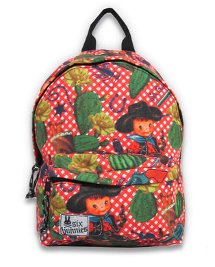 Children's Canvas Backpack Cowboy Print