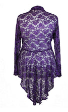 Load image into Gallery viewer, Purple Lace Jacket