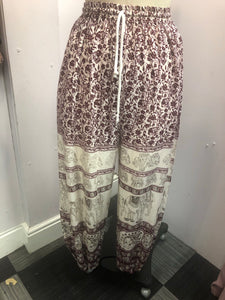 Hareem Trousers wine red Elephant Print