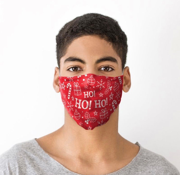 Ho Ho Ho Christmas reusable Mask Face Covering