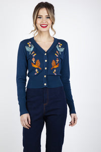 Ginny Embroidered Woodland Cardigan