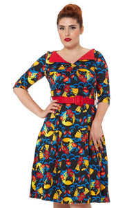 Prairie retro 50s Cat Dress