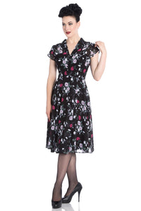 Belleville Chiffon Floral Tea Dress SALE WAS £64 NOW £29
