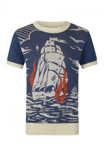 Load image into Gallery viewer, Bobbie Nautical Ship 40's Knit Jumper
