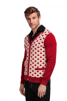 Dave 50's red and white Cardigan