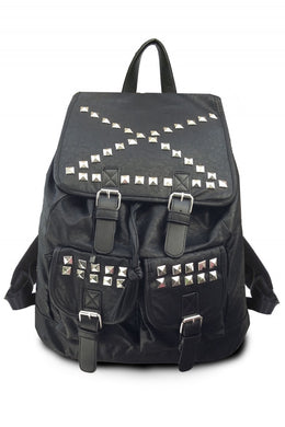 X Marks the Spot Studded Backpack