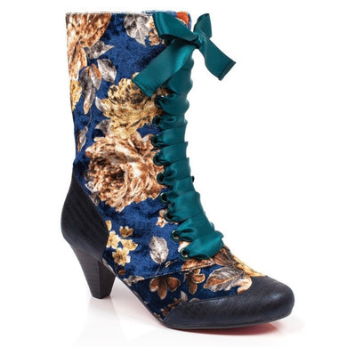 Poetic Licence Lady Victoria Navy Boots SALE WAS £105 NOW £59