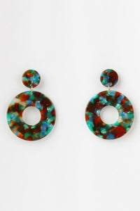 60s Kaleidoscope Rainbow Earrings