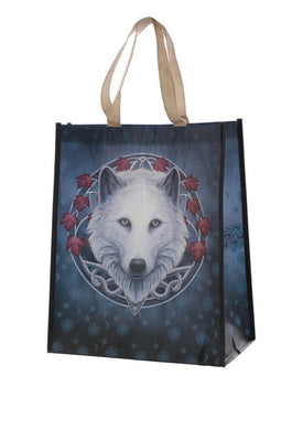 Lisa Parker Guardian of the fall Wolf  shopping Bag