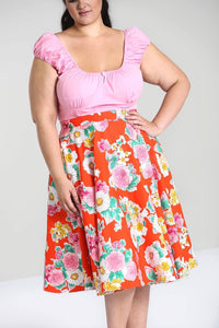 Marguerita Floral Full circle skirt SALE WAS £34 NOW £10