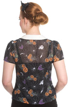 Load image into Gallery viewer, Harlow Spooky Pumpkin blouse