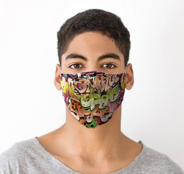 Street Graffiti reusable Mask Face Covering
