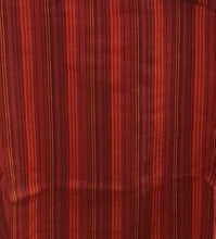 Load image into Gallery viewer, 100% Cotton long Sleeve Striped Grandad Collar Shirt. Red/Orange FAIRTRADE
