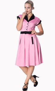 Grease Pink Ladies Inspired American Diner Dress SALE WAS £49 NOW £29