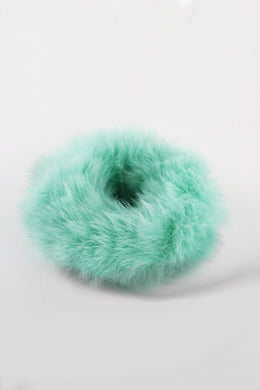 Fuzzy Thing faux fur hair scrunchie bobble (pastel green)