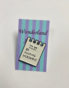 """To do list"" Pin badge"