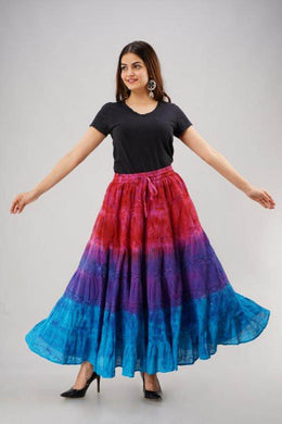 Dip Dye Gypsy Skirt Multi