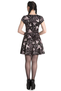 Jas Occult Print Skater Dress
