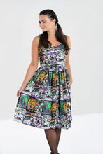 Load image into Gallery viewer, Be Afraid Horror B-movie Dress