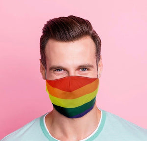 Rainbow reusable Mask Face Covering
