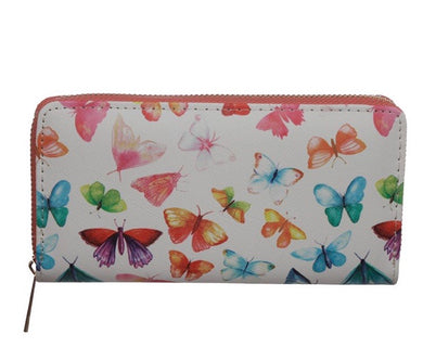 Butterfly Zip Around Large Wallet Purse