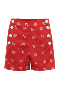 Sue High Waisted Nautical Shorts