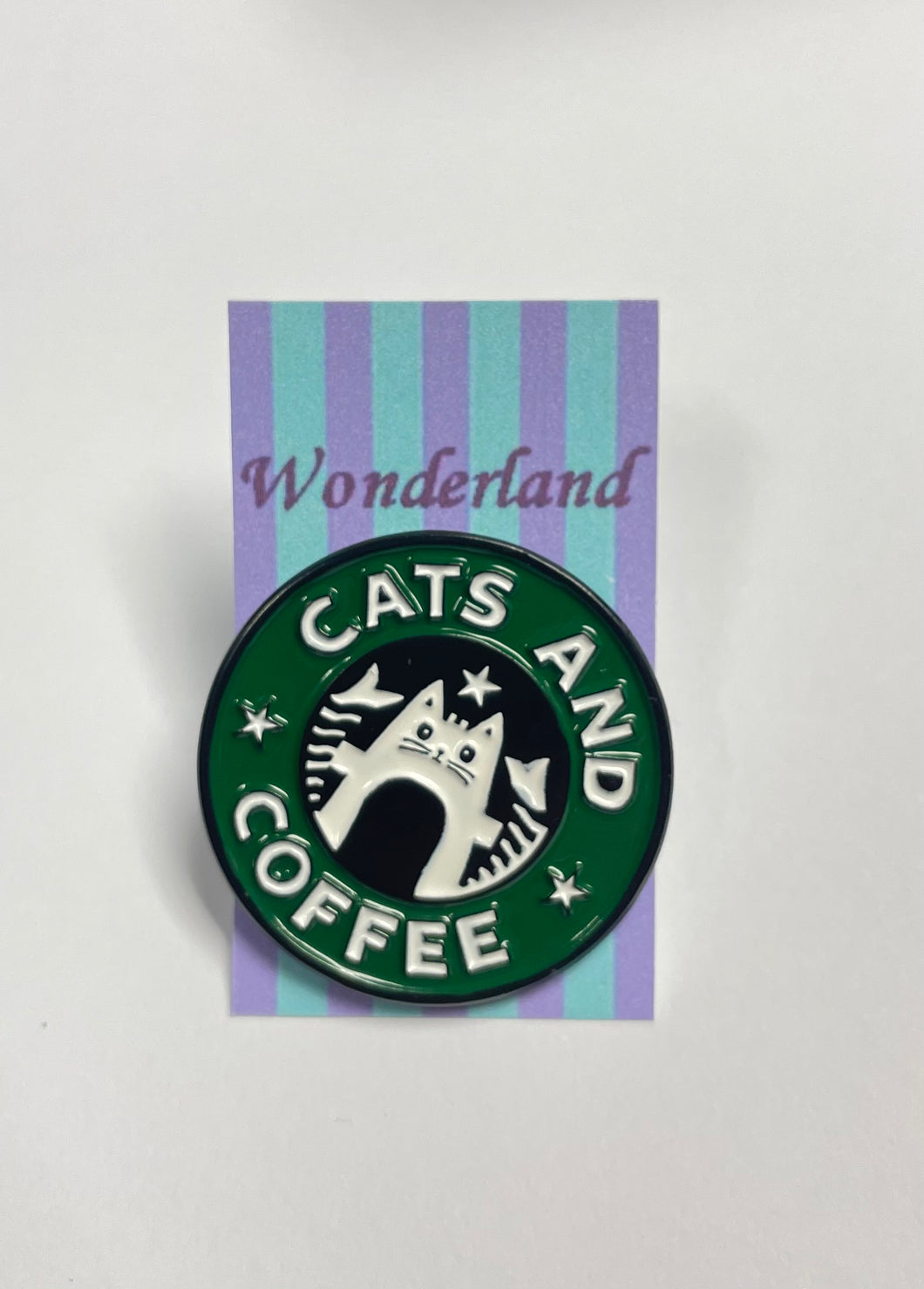 """Cats and Coffee"" Pin badge"