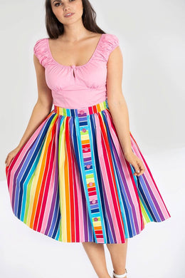 Hell Bunny Over the Rainbow Skirt