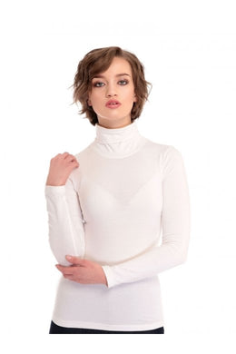 Classic Retro Turtleneck Jersey Top