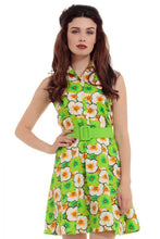 Load image into Gallery viewer, Polly 60s Lime Green Retro Dress