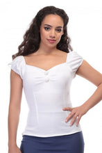 Load image into Gallery viewer, Dolores classic Gypsy Top White