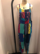 Load image into Gallery viewer, Long Dungarees Rainbow Multi Patchwork