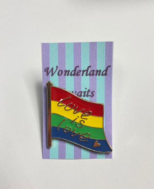 """Love is Love"" Rainbow Flag Pin badge"