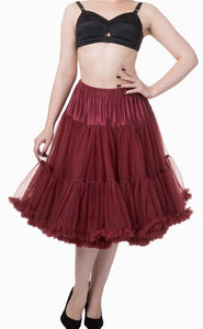 Full Dancing Petticoat Wine/Burgundy
