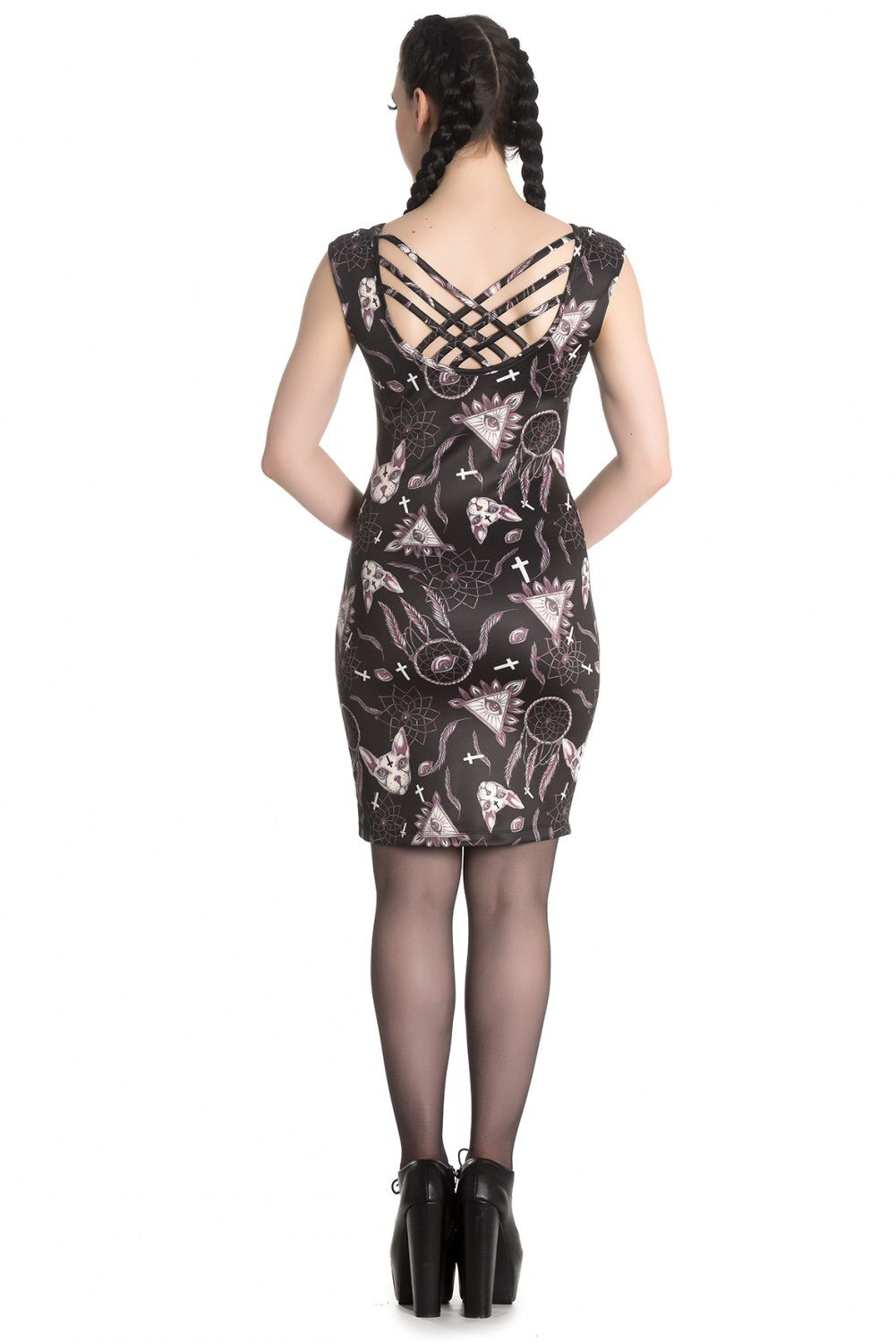 Arcane Occult Kitty Stretch Pencil Dress