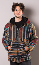 Load image into Gallery viewer, FAIRTRADE Gheri Fabric fleece lined Hooded jacket