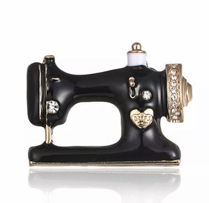 Vintage Sewing machine Inspired Brooch