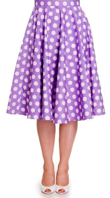 Full Circle Polka dot Lilac Skirt