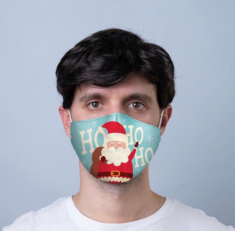 Happy Santa reusable Mask Face Covering