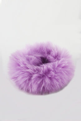 Fuzzy Thing faux fur hair scrunchie bobble (Lilac)