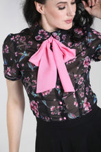 Load image into Gallery viewer, Madison Flowers and Humming Bird Blouse