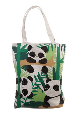 Pandarama Panda Zipped cotton tote bag