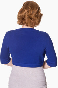 Hudson Short Sleeve Bolero Royal Blue