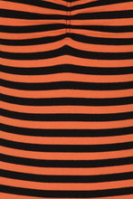 Load image into Gallery viewer, Warlock Black and Orange Striped Top