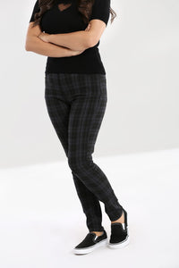 Storm Grey Check Stretch Trousers