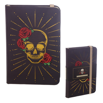 Gothic Skull and Roses Notebook Journal