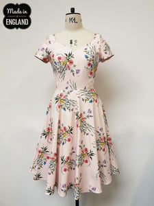 Summer Breeze Floral Occassion Dress Made in the Uk