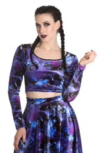 Load image into Gallery viewer, Orpheus Velvet Galaxy Crop Top SALE WAS £22 NOW £10